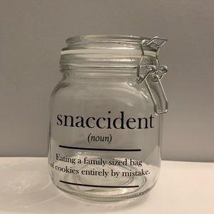 Snaccident glass jar secret Santa Christmas gift
